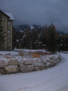 First Snow on the ground in Fernie