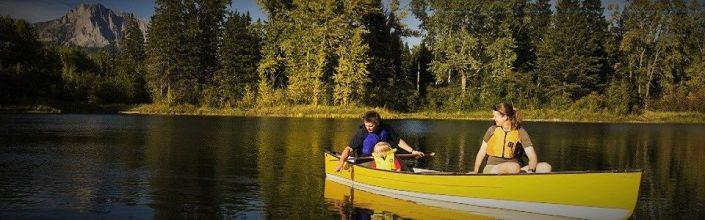 Fernie Summer Canoeing on Lake